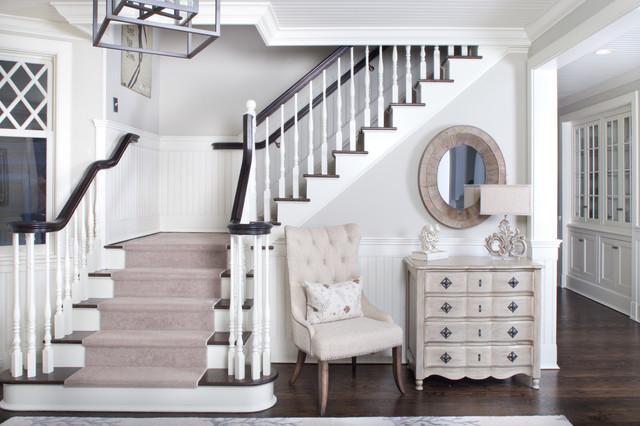 Southampton Retreat beach-style-staircase