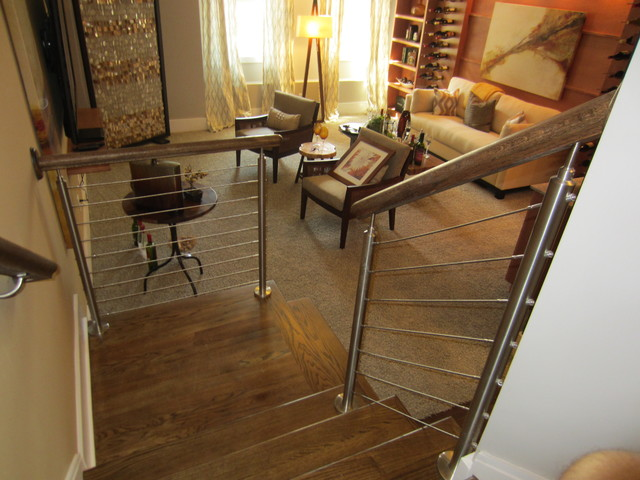 Southern Staircase Inc. Manufactured & Installed PICTURES of the MONTH modern-staircase
