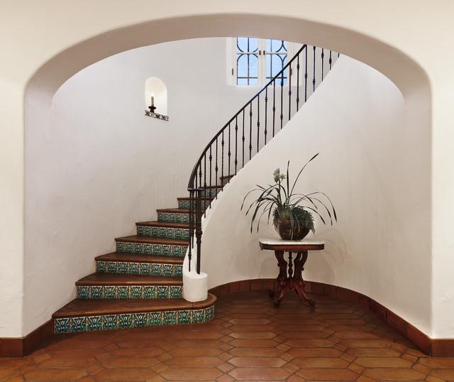 Spanish Colonial Mediterranean Staircase Santa