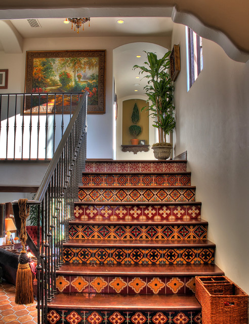 Spanish Colonial Revival - Southwestern - Staircase - los angeles - by ...