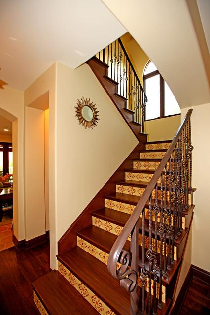 Spanish Colonial Revival Mediterranean Staircase Los
