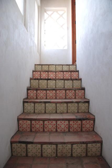spanish oaks stairs mediterranean-staircase