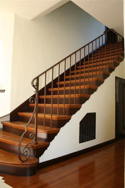 Spanish revival mediterranean-staircase
