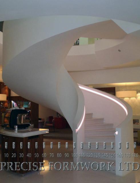 Spiral Concrete Staircase Contemporary Staircase