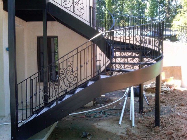 Spiral Staircase / Metal Stairs   Contemporary   Staircase   Atlanta   By  Womack Iron