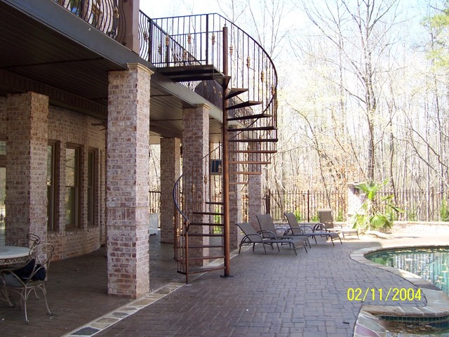 Spiral Staircase Metal Stairs Mediterranean Staircase Atlanta By Womack Iron