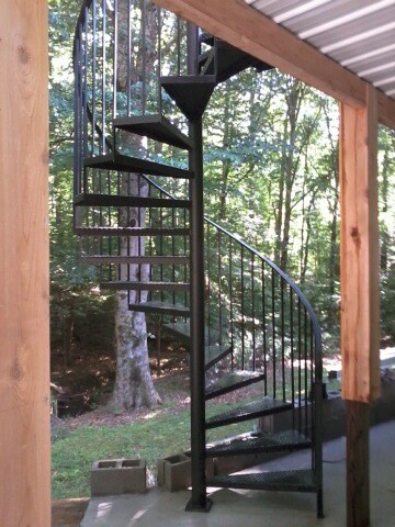 spiral staircase metal stairs contemporary staircase atlanta
