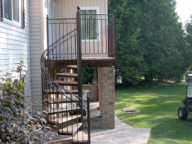Spiral stairs traditional staircase toronto by for 4 foot spiral staircase