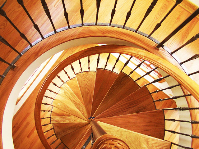 Spiral Stairs Traditional Staircase Los Angeles By