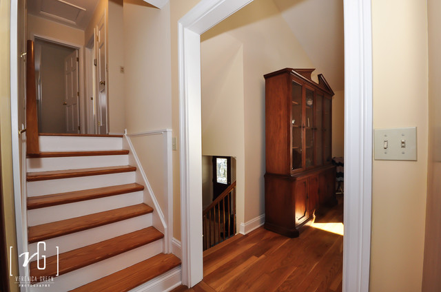 Split Level House Traditional Staircase