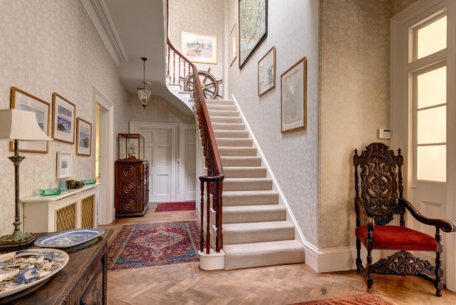 oriental home design. Traditional carpeted u shaped staircase idea in Devon Oriental Home Design  Houzz