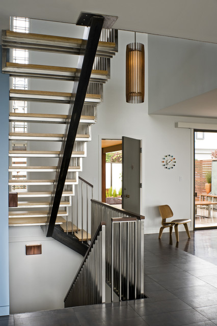 St germain industrial staircase san francisco by for Miroir zig zag