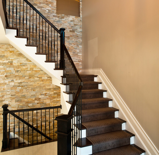 Stacked Stone Stairs Contemporary Staircase Denver