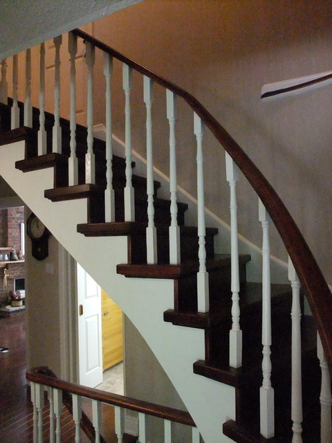 Stain Stairs Paint Spindles Traditional Staircase