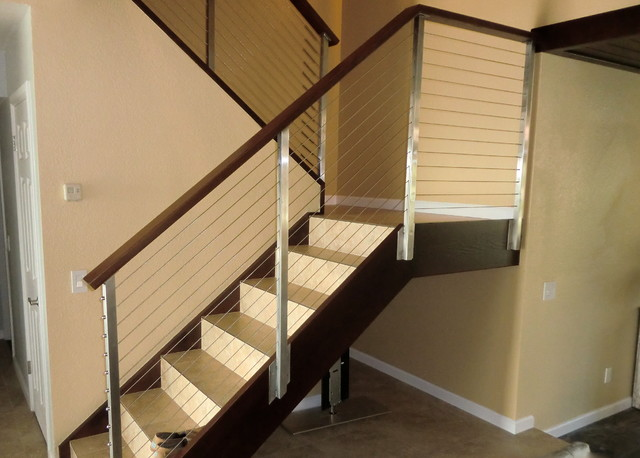 Cable Rail On Interior Stairs Modern Staircase