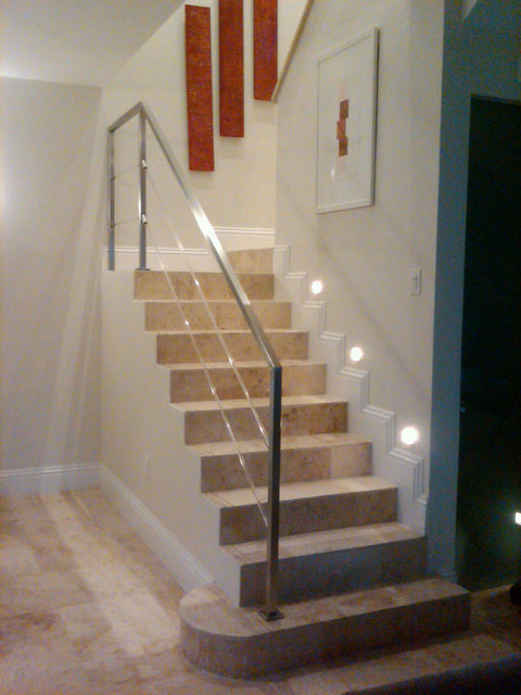 Stainless Steel And Acrylic Stair Rail