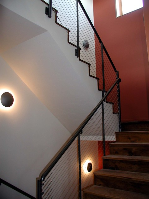 Stainless Steel Cable Railing contemporary-staircase