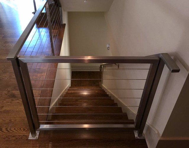 Stainless steel cable railing rectangle tube top with