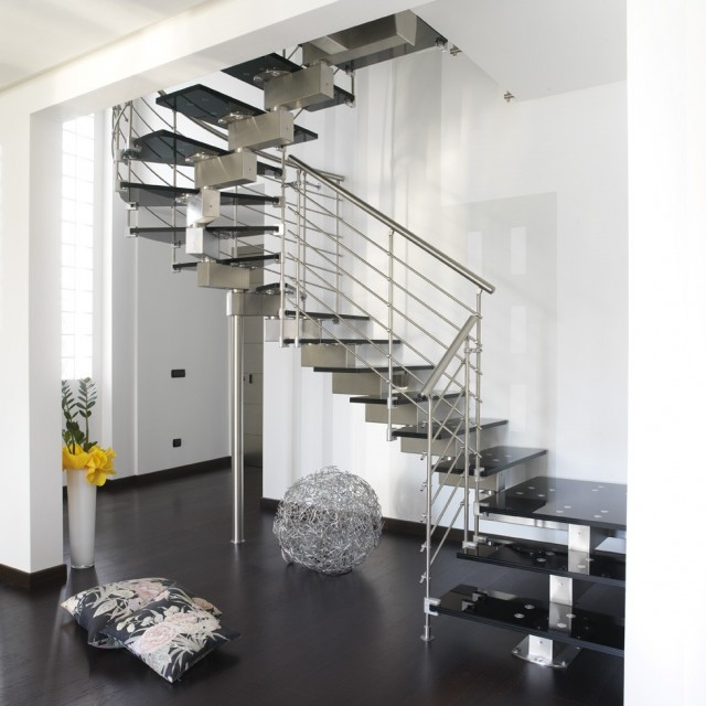 Stainless Steel Horizontal Stair Railings Contemporary