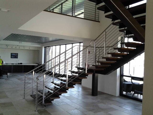 Stainless Steel Railing Contemporary Staircase