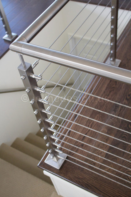 Stainless Steel Railing Modern Staircase
