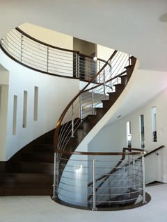 Stainless steel modern staircase other metro by spanish