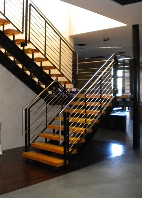 Stainless Steel Stair Railing Staircase Phoenix By Steel Amp Stone