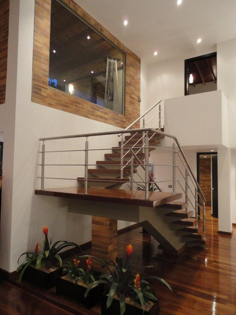 stainless steel stairs modern-staircase
