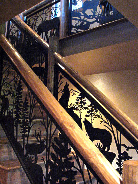 Stair Amp Balcony Railing With Forest Animals Eclectic