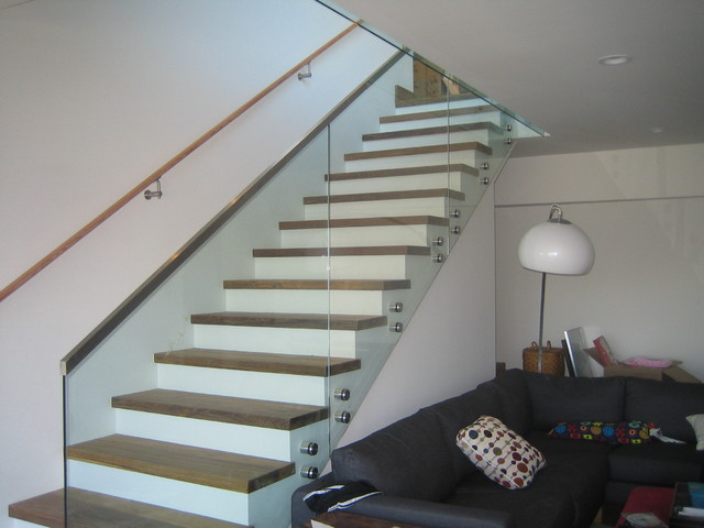 stair and deck railings with standoffs - Contemporary ...