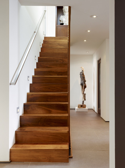 stair at entry contemporary-staircase