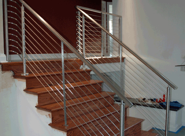 Stair Cable Railing modern-staircase