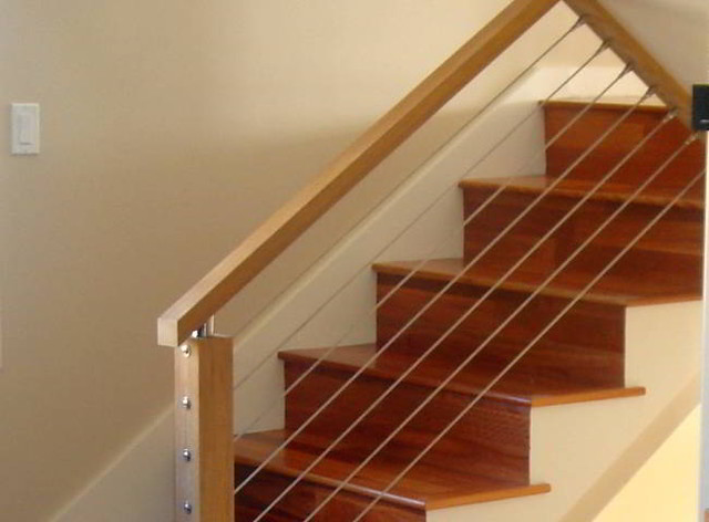 Stair Cable Railing Modern Staircase