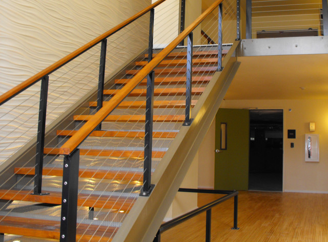 Stair Cable Railing - Modern - Staircase - by Ultra-tec ...