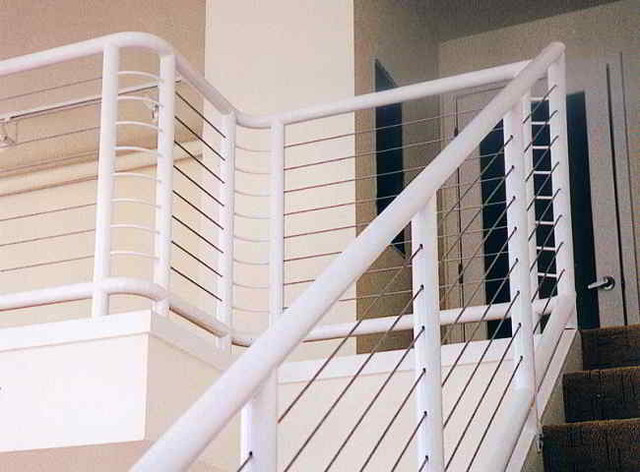 Awesome Stair Cable Railing Modern Staircase