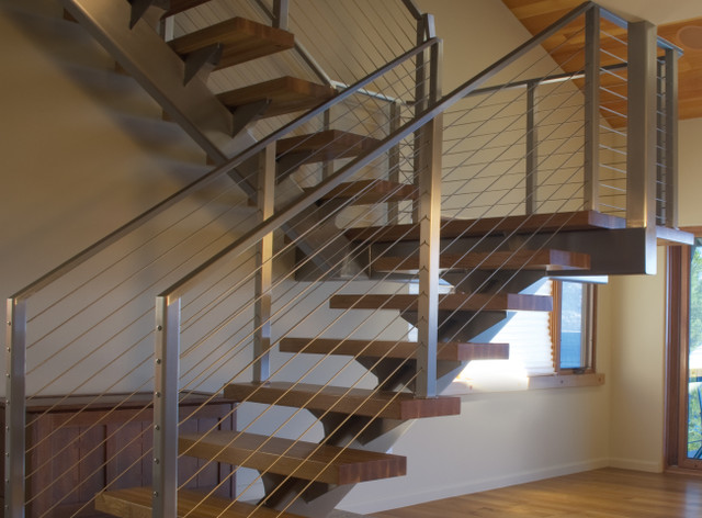 Stair Cable Railing Modern Staircase By Ultra Tec