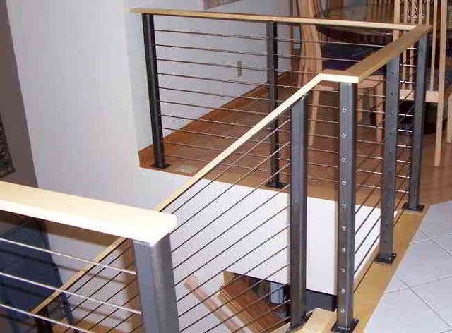 Stair Cable Railing Modern Staircase Other By