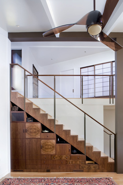 Stair casework contemporary-staircase