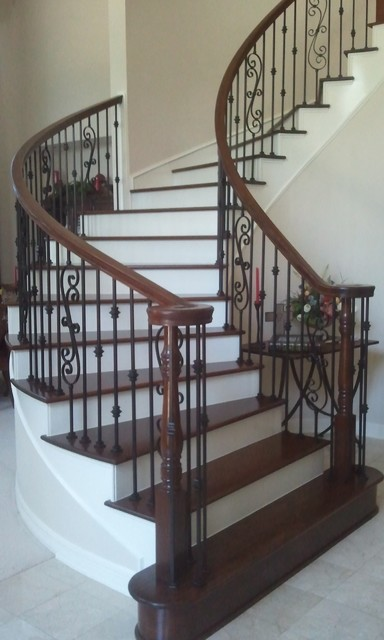 Stair design houston traditional staircase houston for Stair remodel houston