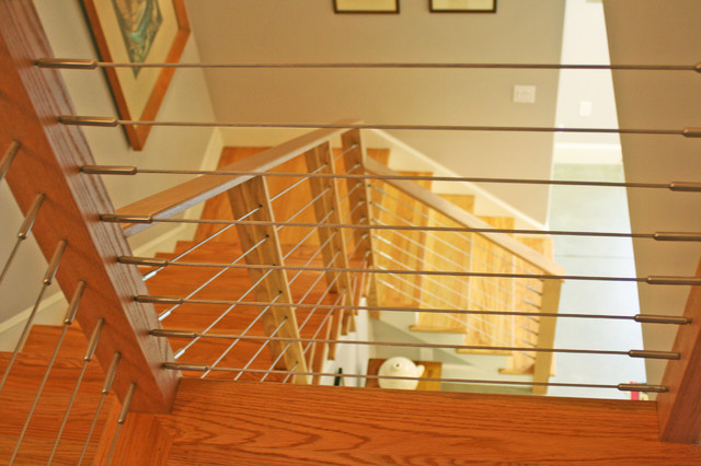 Brown St. Carriage House contemporary-staircase