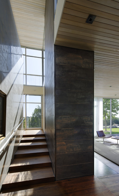 stair, hall contemporary-staircase