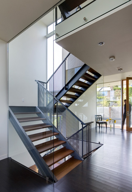 Stair house modern staircase seattle by david Inside staircase in houses