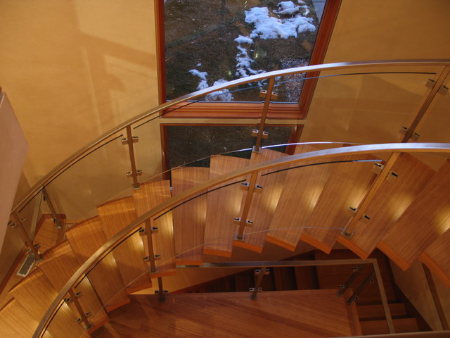 Stair Lighting from above contemporary-staircase