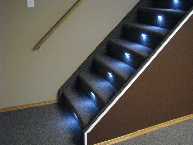 in stair lighting. Stair Lighting On Various Styles Traditional-staircase In