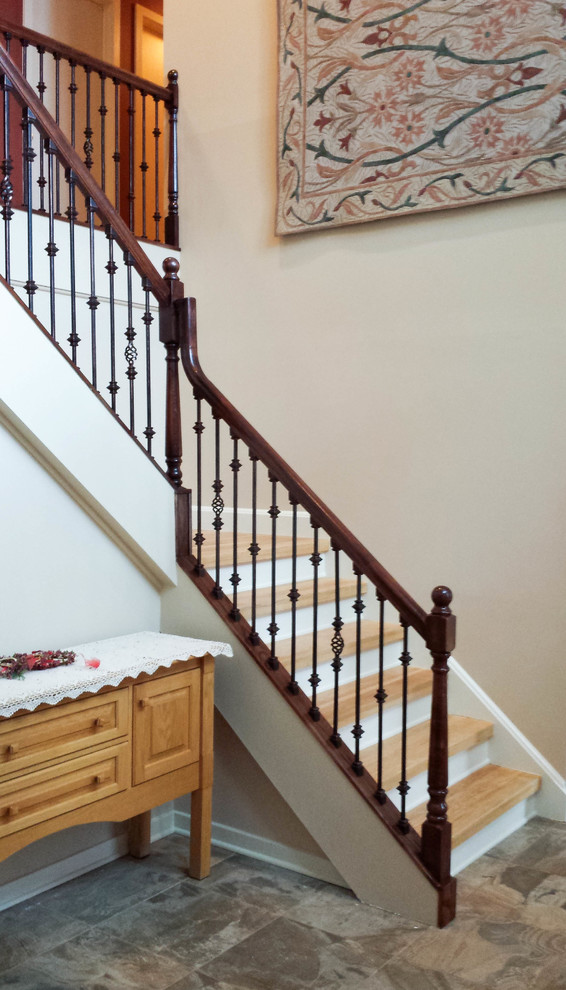 Stair railing remodel - Traditional - Staircase - New York ...