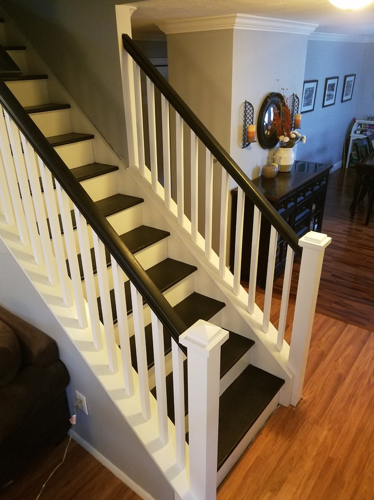 Stair Railing Update - Transitional - Staircase - New York ...