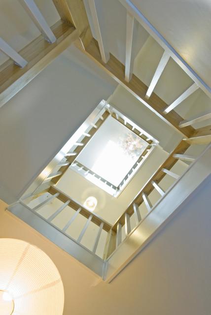 Stair refurbishment contemporary-staircase