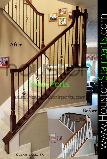 Elegant Stair Remodel Houston Stair Parts Traditional Staircase