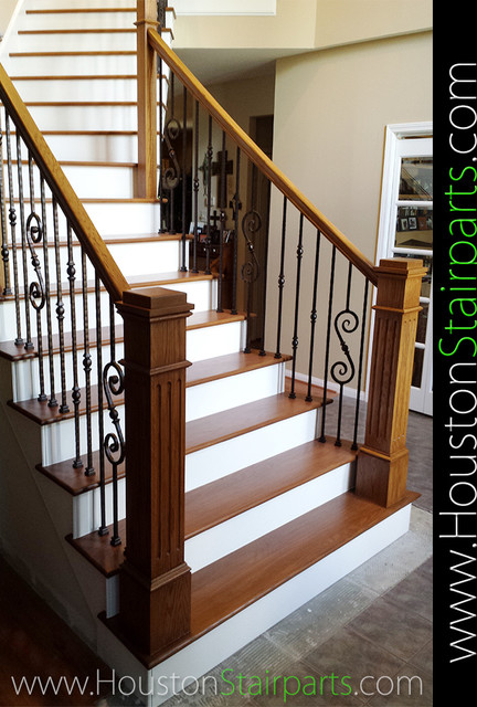 Stair Remodel Houston Stair Parts Traditional Staircase