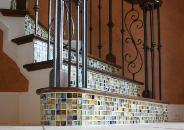 Lovely Stair Risers Traditional Staircase